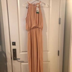 H&M Conscious blush pink Grecian maxi dress.